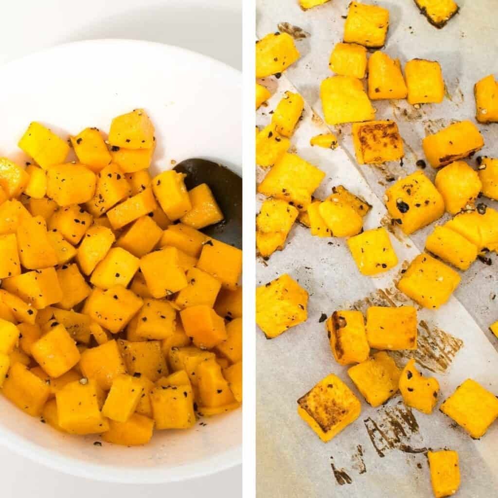 steps to roast butternut squash.