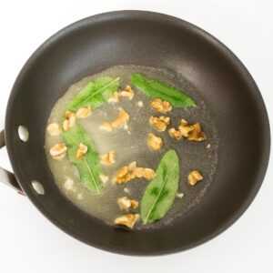 melted butter with sage nd walnuts.