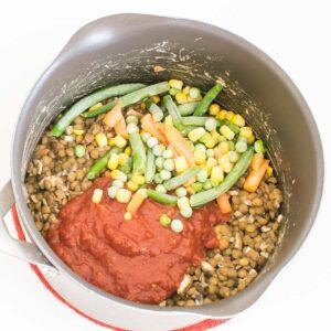 added veggies