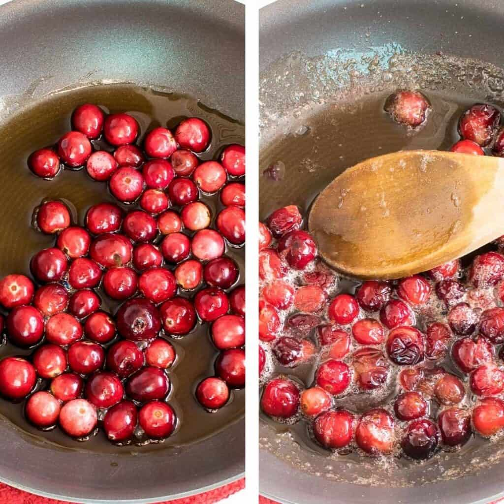 steps to cook cranberries.