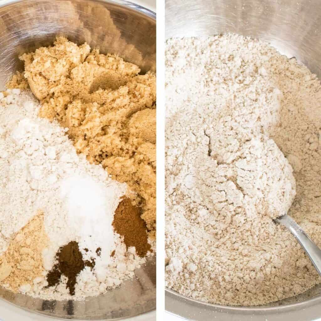 steps to mix dry ingredients.