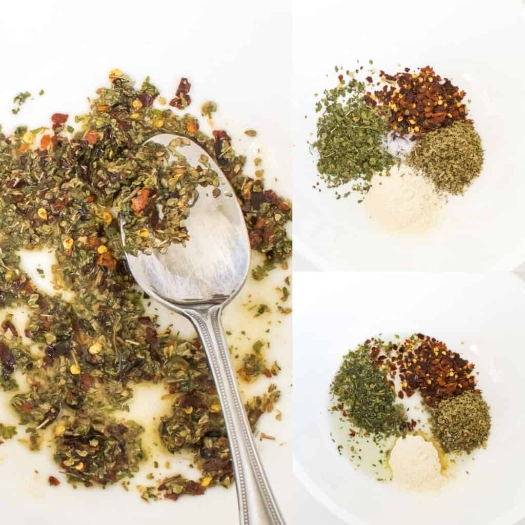 steps to combine spices.