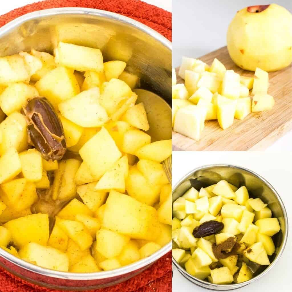 steps to cook apples.