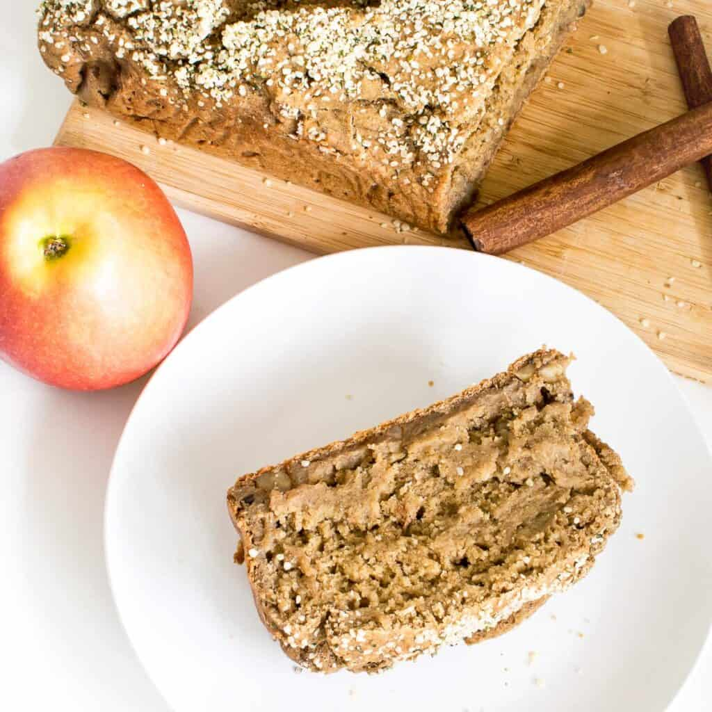 served slices of applesauce bread.