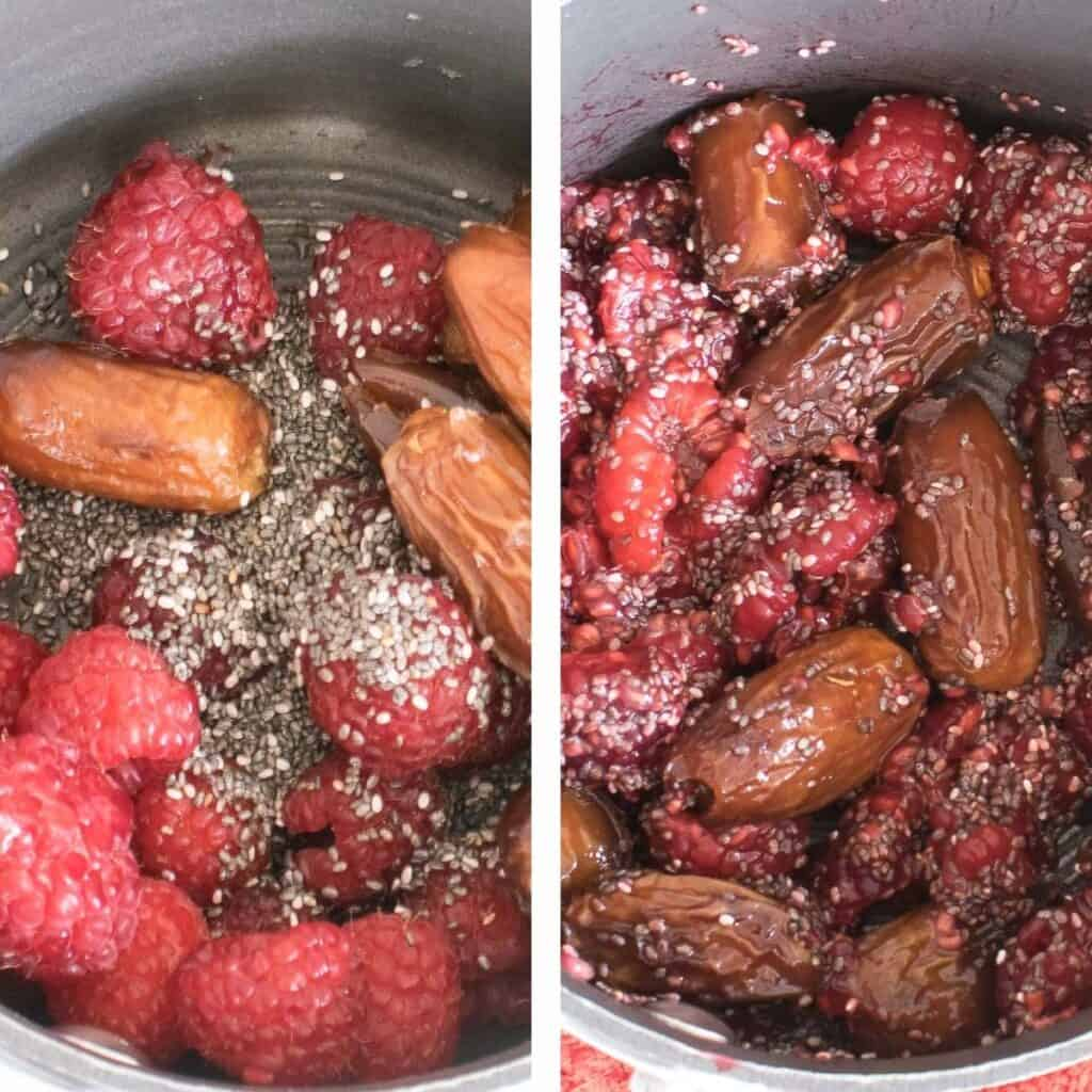 steps to cook jam.