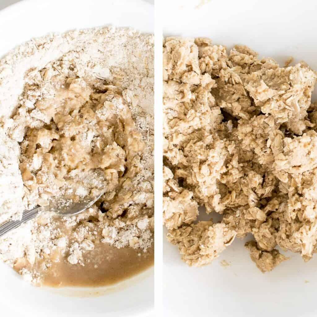 steps to make the dough.