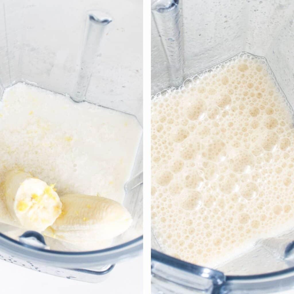 steps to blend wet ingredients.