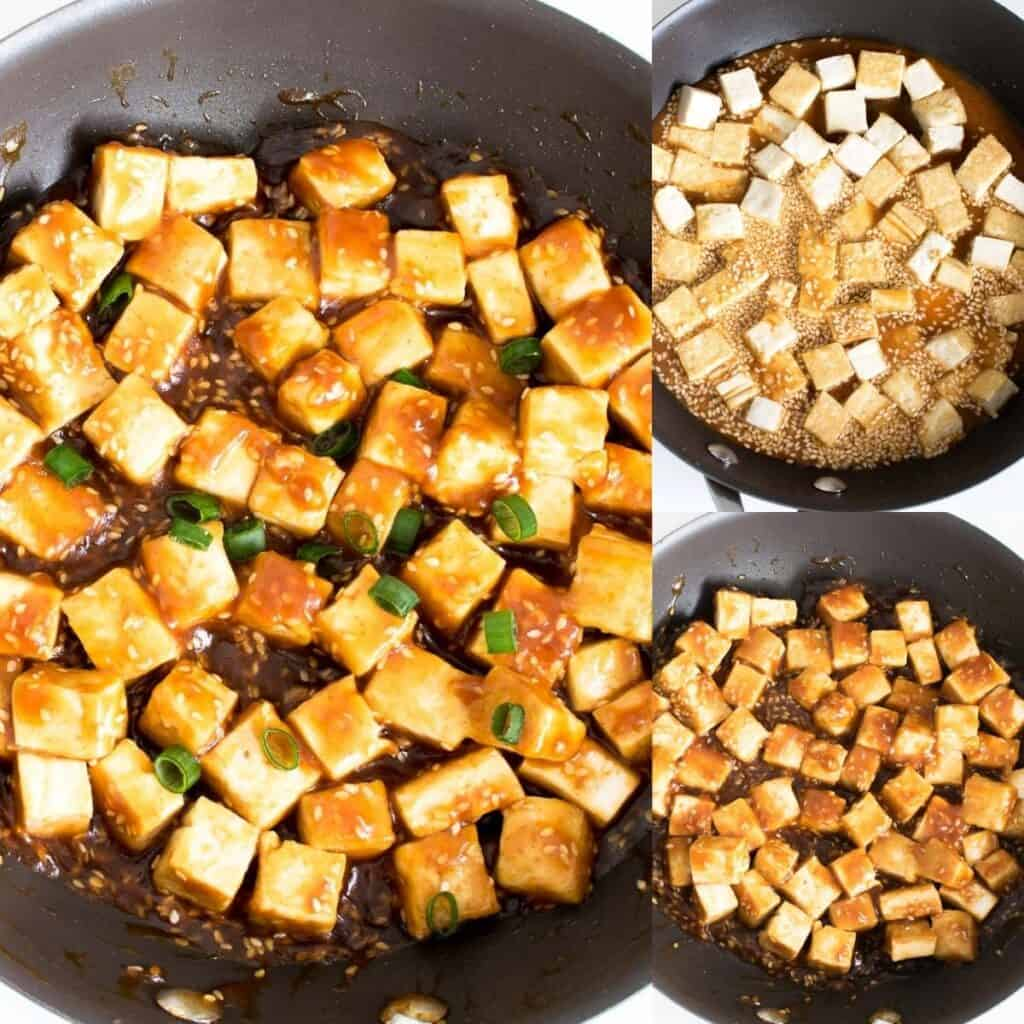 steps to cook the entree.
