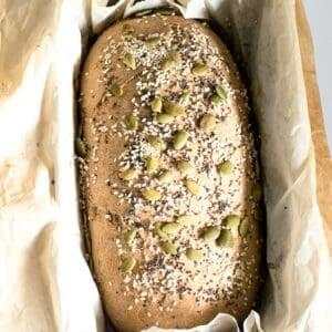 fresh baked whole wheat bread.