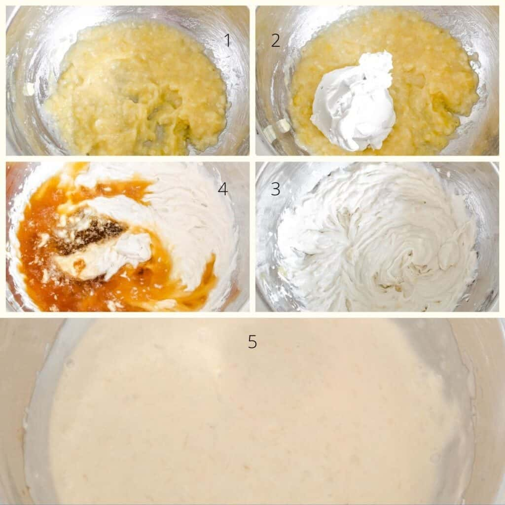 steps to beat wet ingredients.