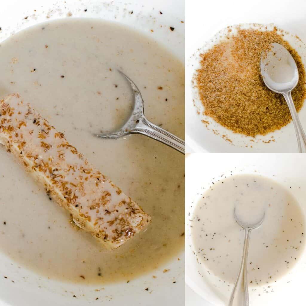 steps to dip in milk mixture.