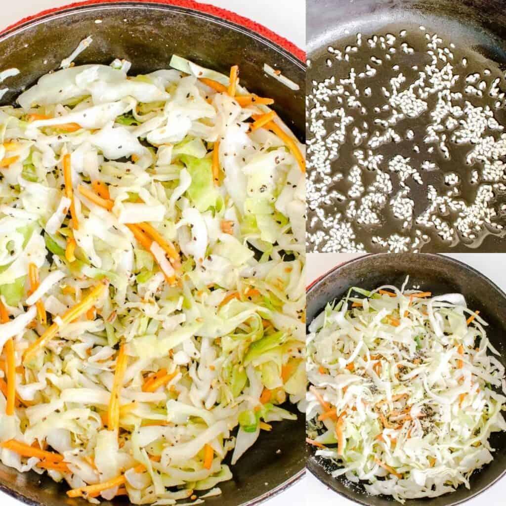 steps to sauté vegetables.