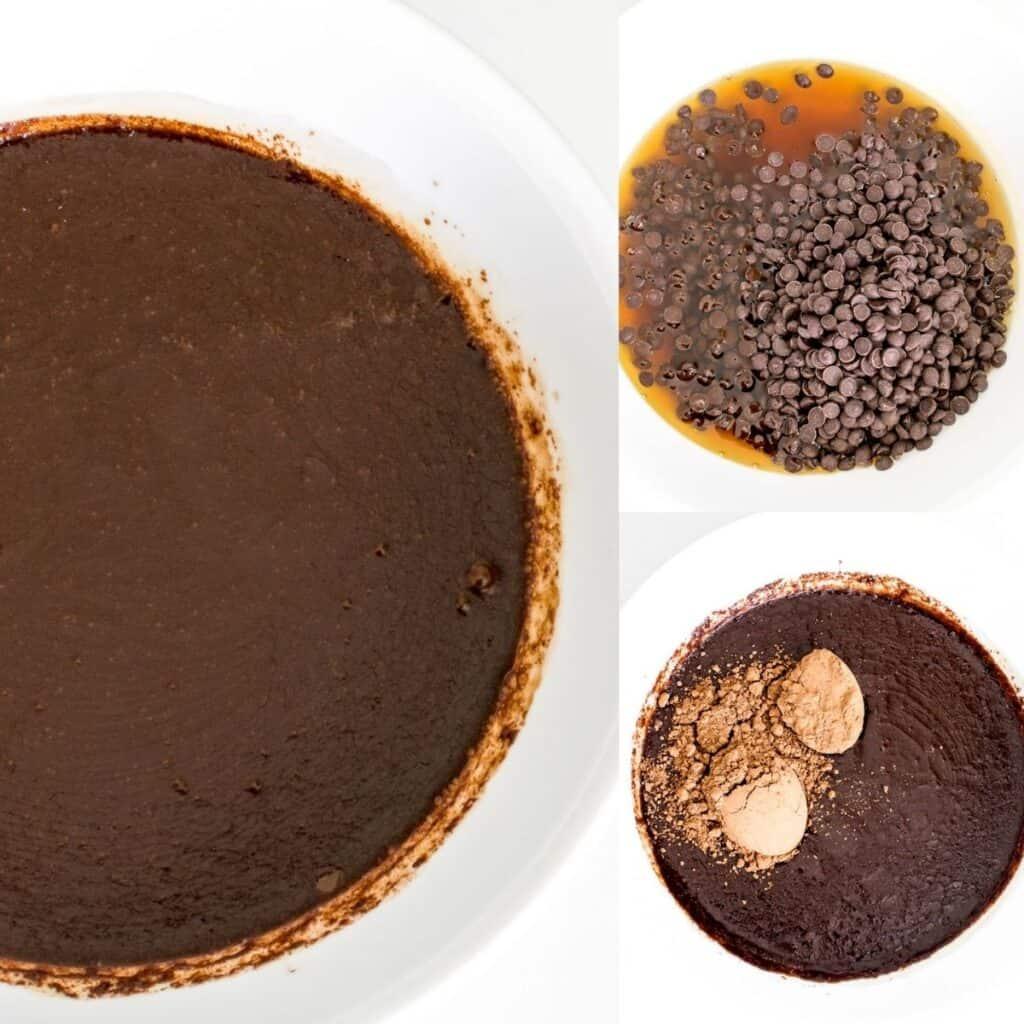 steps to melt chocolate.