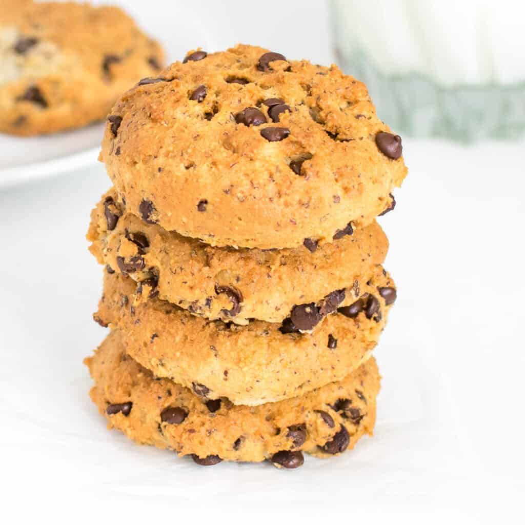 a tall stack of air fryer cookies
