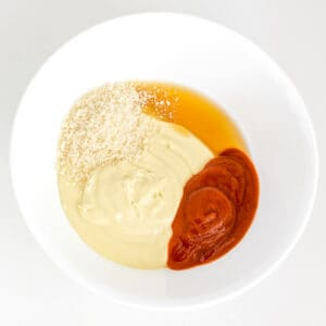 batter ingredients in a bowl