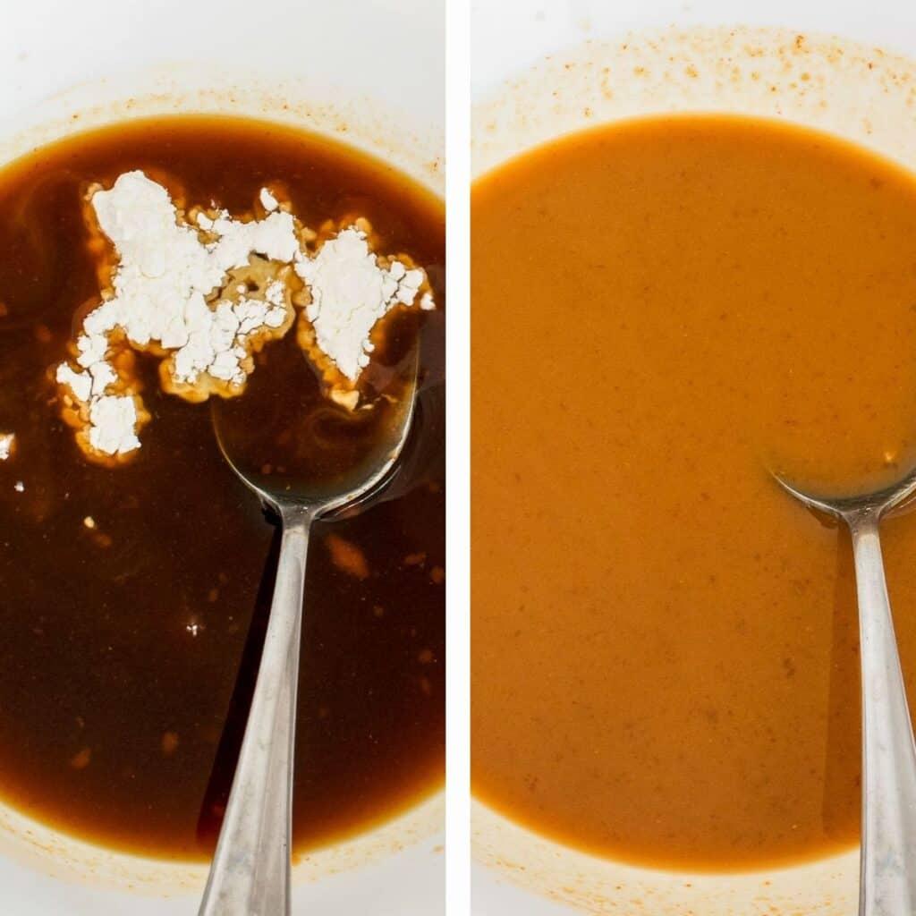 steps to make the sauce.