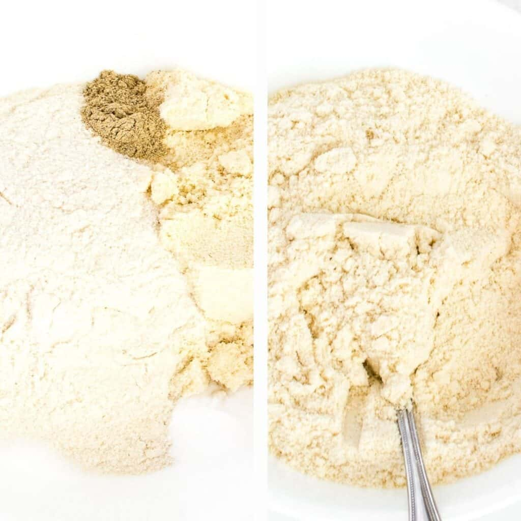 steps to combine dry ingredients.