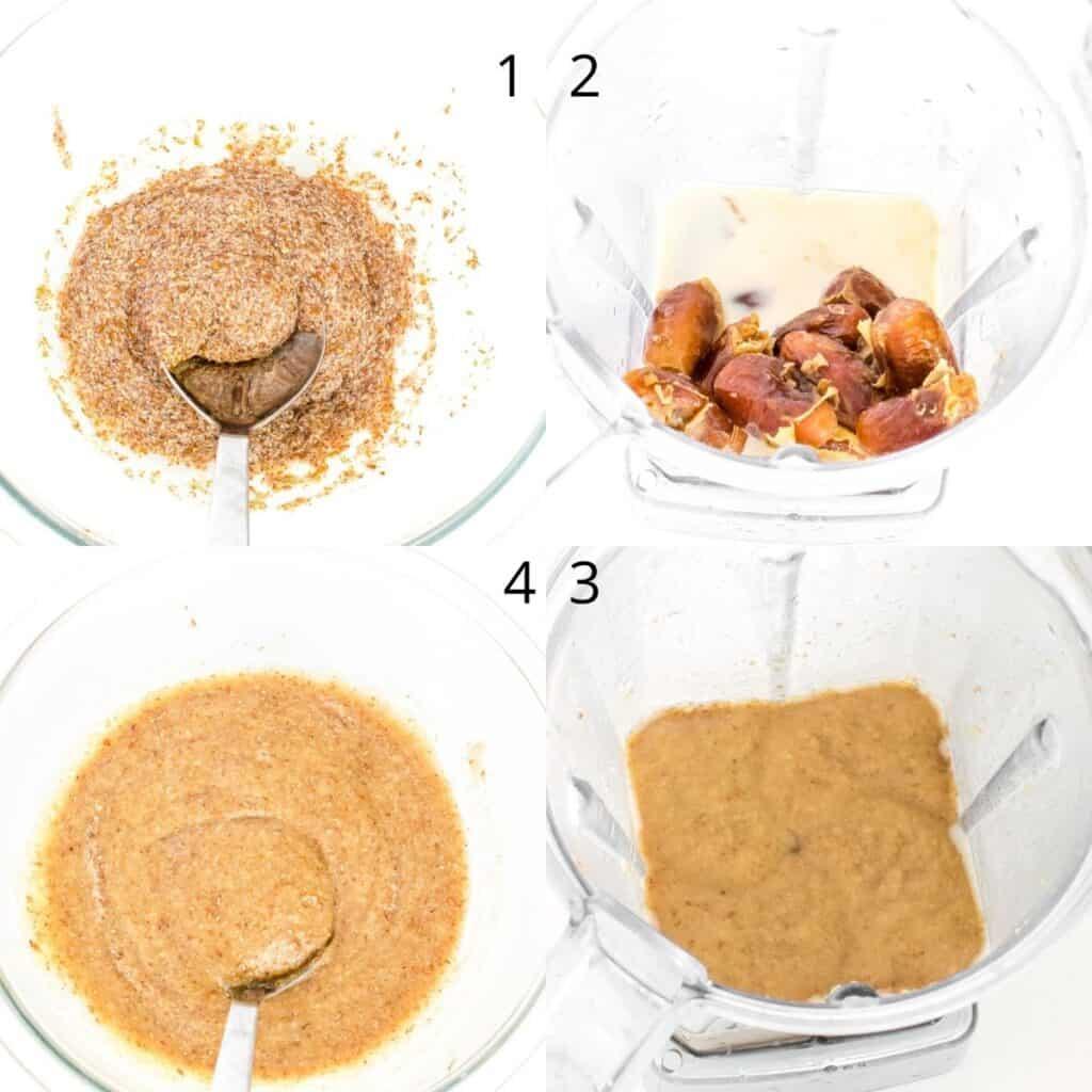 steps to combine wet ingredients.