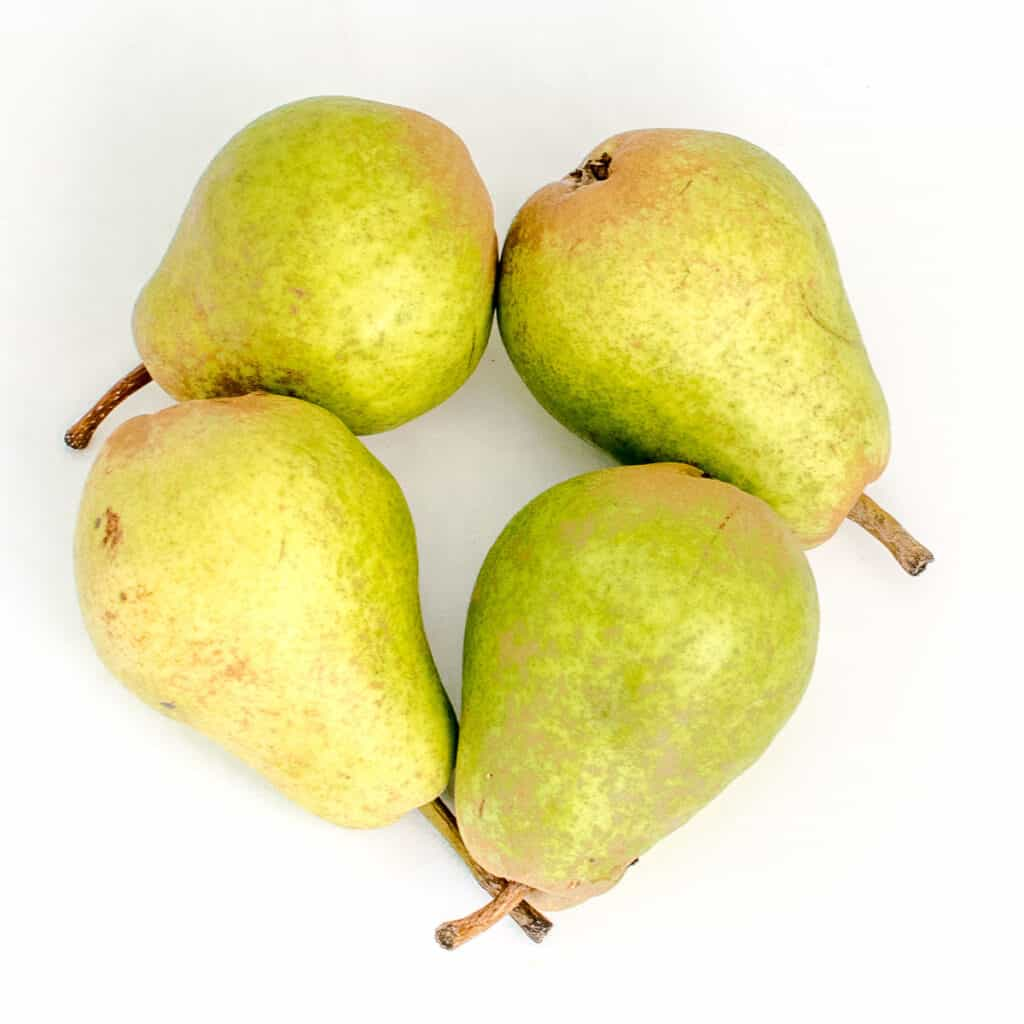 top view of the raw fruits.