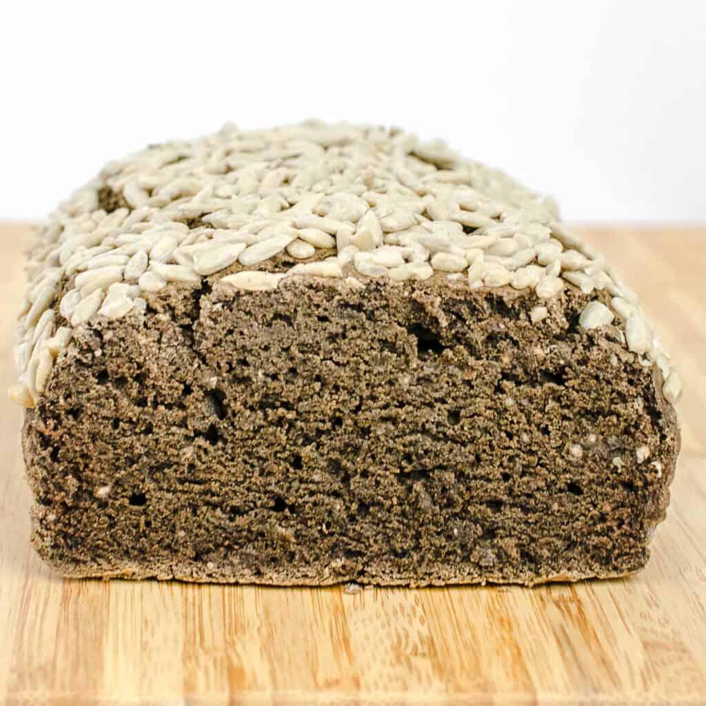 inside view of buckwheat bread.