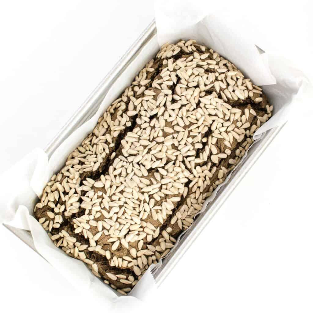 fresh baked buckwheat bread.