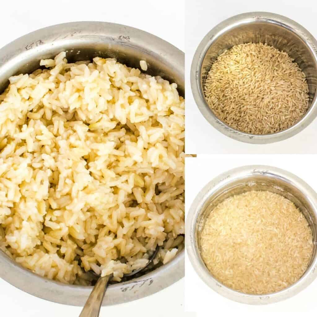 steps to cook rice.