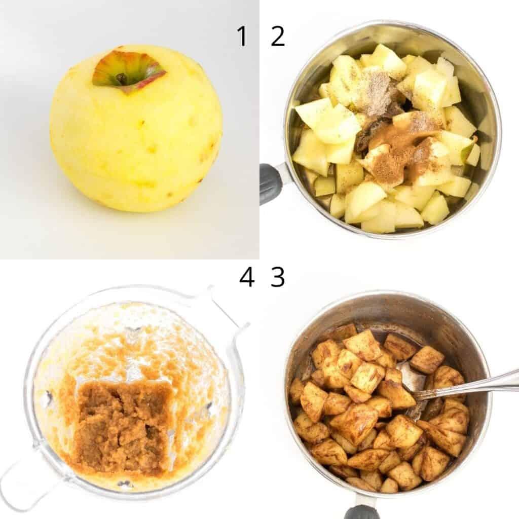 steps to make fresh applesauce.