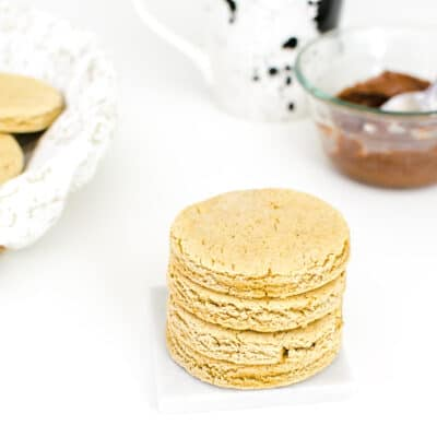 stacked vegan biscuits.
