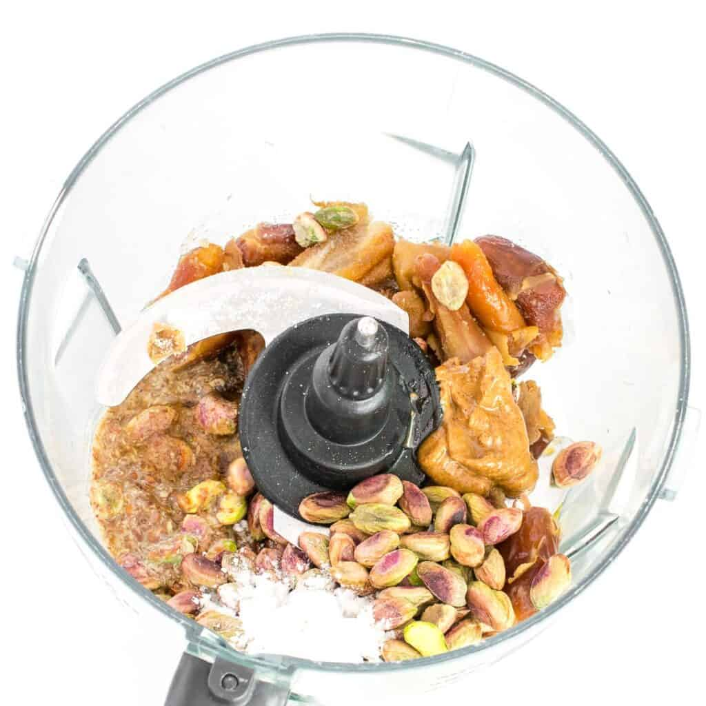 all the ingredients in the food processor.